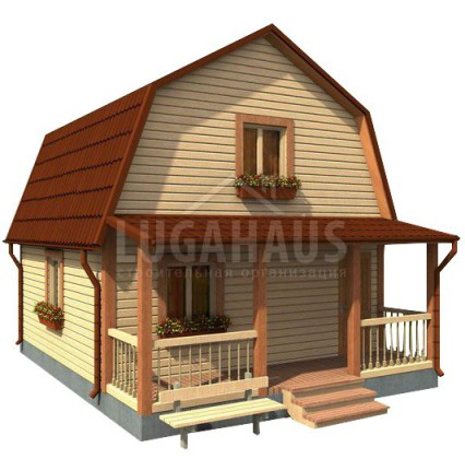 Дом №11 Размер 6х7,5м