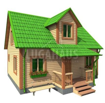 Дом №22 Размер 8х7,5м
