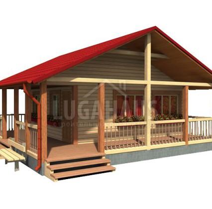 Дом №24 Размер 8х8м