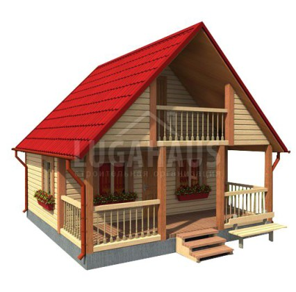 Дом №4 Размер 6х6м