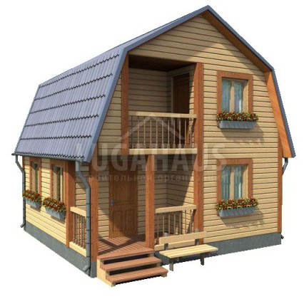 Дом №8 Размер 6х6м