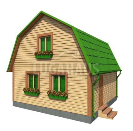 Дом №9 Размер 6х6м