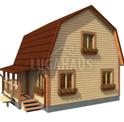 Дом №10 Размер 6х6м