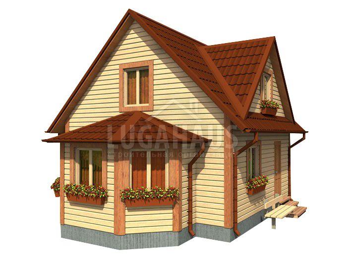 Дом №13 Размер 8х6м - Фото 2