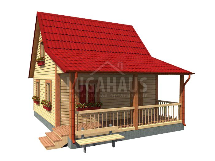 Дом №15 Размер 6х8м - Фото 2