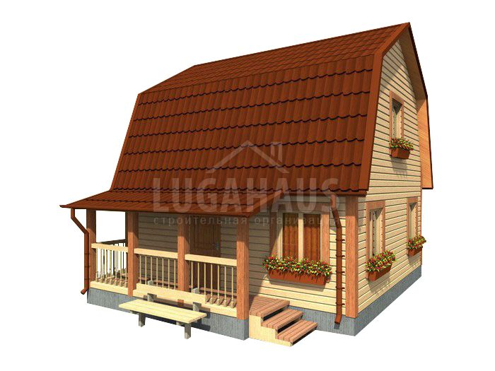 Дом №10 Размер 6х6м - Фото 2