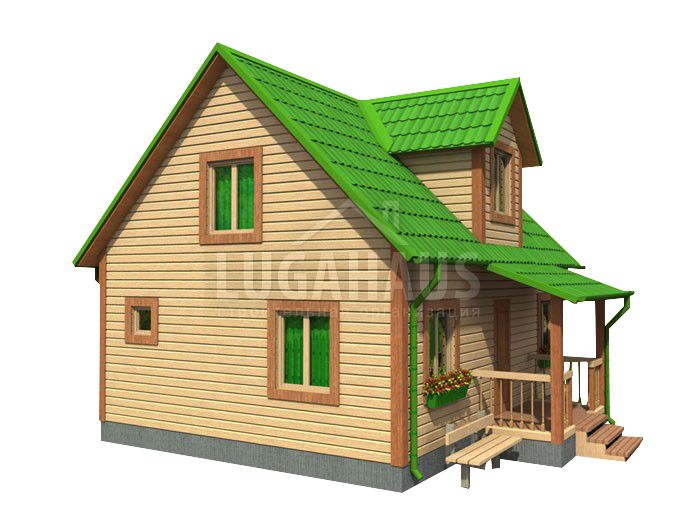 Дом №22 Размер 8х7,5м - Фото 3
