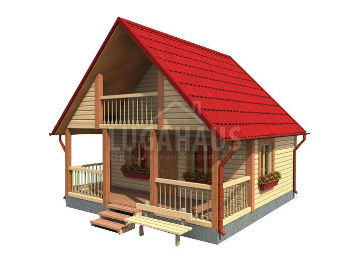 Дом №4 Размер 6х6м - Фото 3