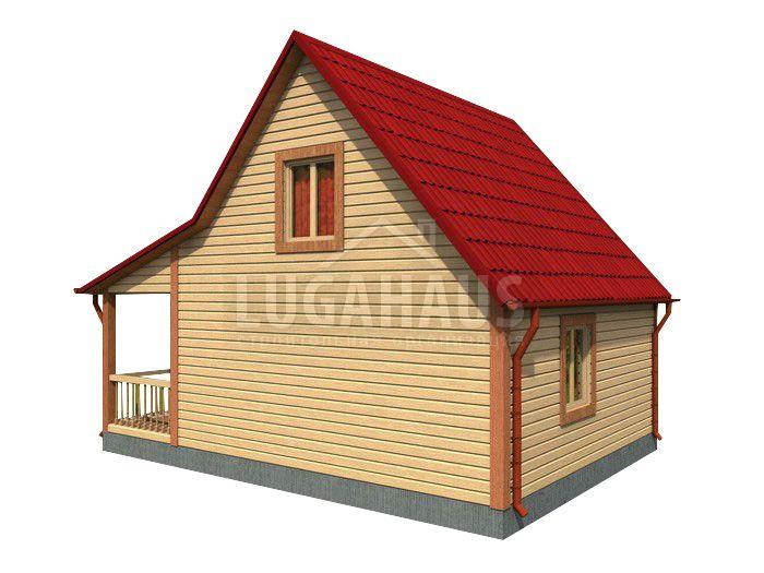 Дом №15 Размер 6х8м - Фото 4