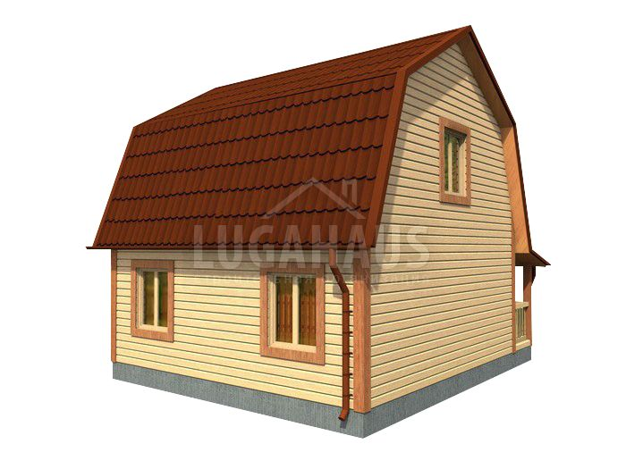 Дом №10 Размер 6х6м - Фото 4